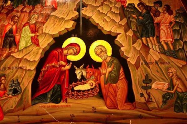 Resultado de imagen de nacimiento de jesus icono